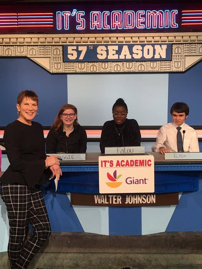 "On ""It's Academic,""  Walter Johnson competed against Stonewall Jackson and Georgetown Day. The show aired Dec.  30, 2017. (Courtesy Facebook/It's Academic)"