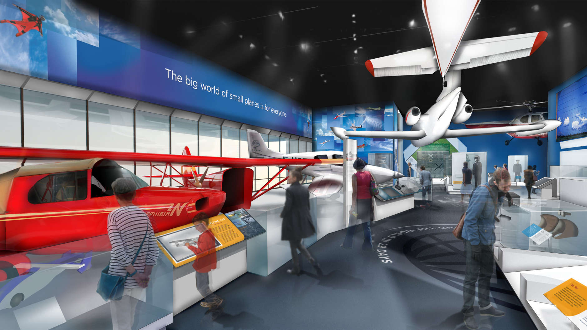 """The """"We All Fly"""" exhibit. (Copyright: Smithsonian Institution)"""