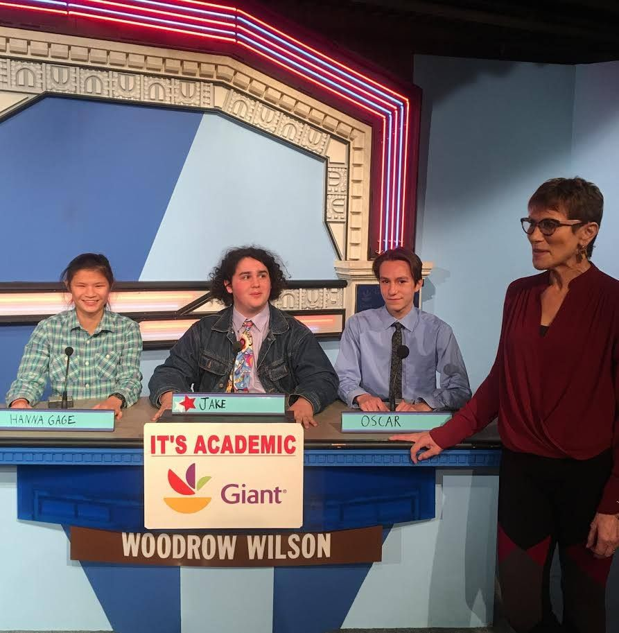 "On ""It's Academic,"" Wilson  competes against Sherwood and Paint Branch high schools. The show aired Jan. 6, 2018. (Courtesy Facebook/It's Academic)"