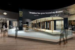 """""""The Wright Brothers"""" exhibit. (Copyright: Smithsonian Institution)"""