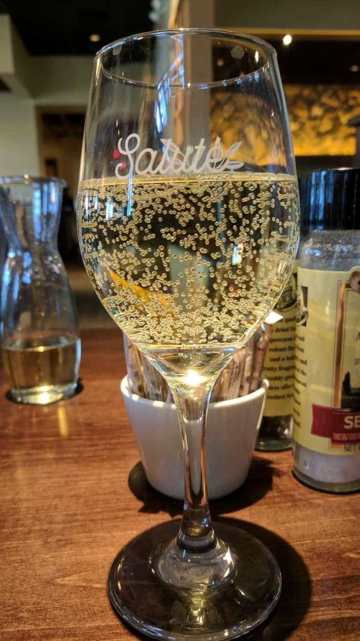Wine at the Harrisonburg Olive Garden. (WTOP/Brandon Millman)