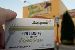 The Columbus, Ohio, Olive Garden. (WTOP/Brandon Millman)