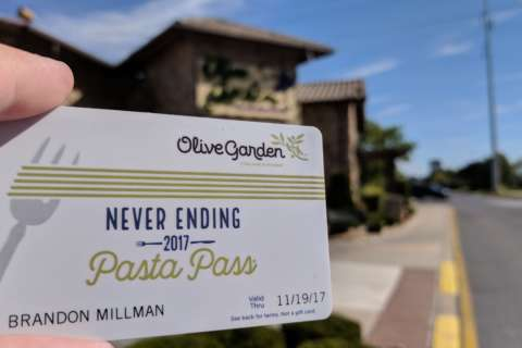 When you're here, you're eating: A quest with Olive Garden's 'Never Ending Pasta Pass'