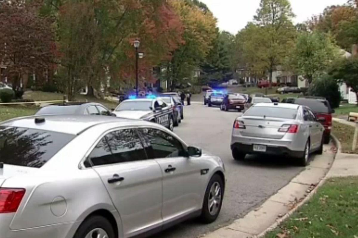 Police on the scene of the ax attack in Fairfax County. (Courtesy NBC4)