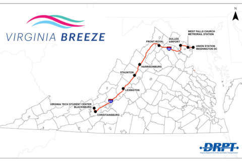 New bus route includes stops at Va. Tech, Dulles, Union Station