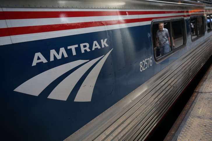 34195a320c A passenger passes by an Amtrak train Sept. 3, 2015 at Union Station in  Washington, D.C. (Photo by Alex Wong/Getty Images)