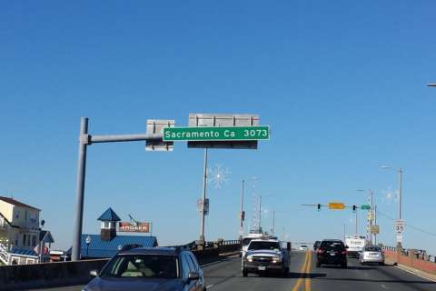 How did that Sacramento road sign end up in Ocean City?
