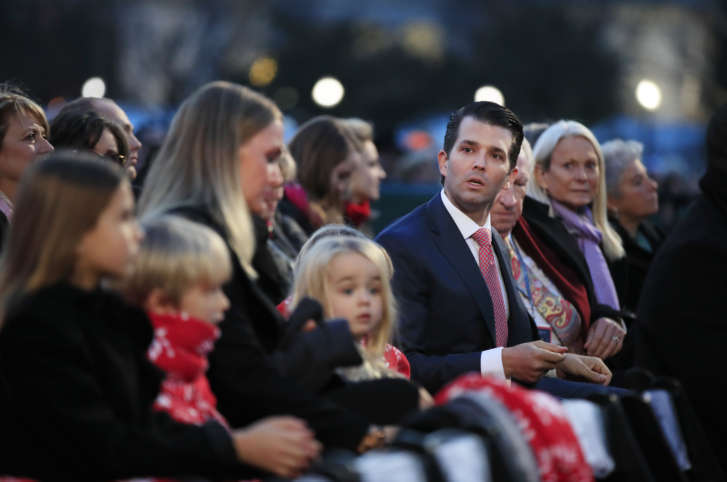 and their family watch performances during the national christmas tree lighting ceremony at the ellipse near the white house in washington thursday - White House Christmas Tree Lighting