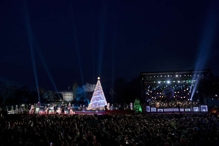 the lighting ceremony for the 2017 national christmas tree on the ellipse near the white house thursday nov 30 2017 in washington