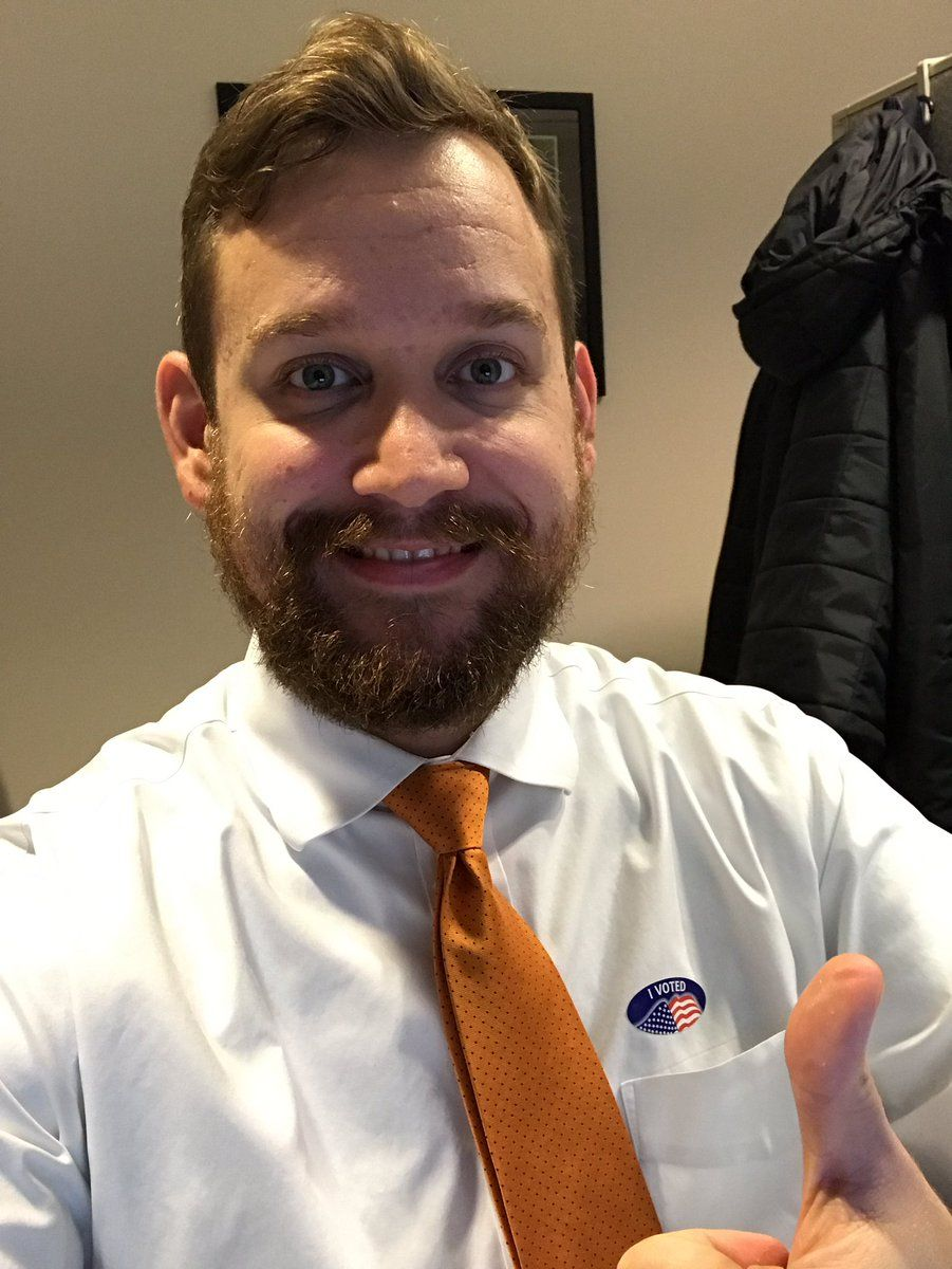 "Bryan Byrd tweeted WTOP, ""voted early this morning in Fairfax Co!"" (Courtesy @byrdman790/Twitter)"
