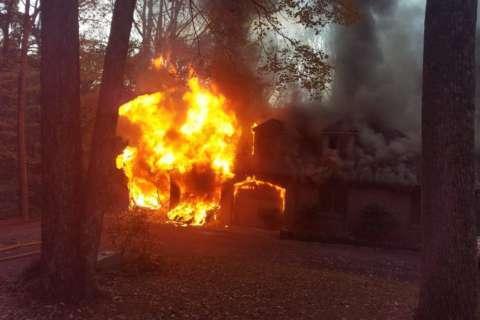 Accidental garage fire destroys Brookeville home, causes $600K damage