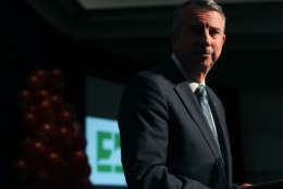 RICHMOND, VA - NOVEMBER 07:  Republican gubernatorial candidate Ed Gillespie speaks at an election night rally on November 7, 2017 in Richmond, Virginia. Gillespie was projected to lose to Democrat Ralph Northam.  (Photo by Mark Wilson/Getty Images)