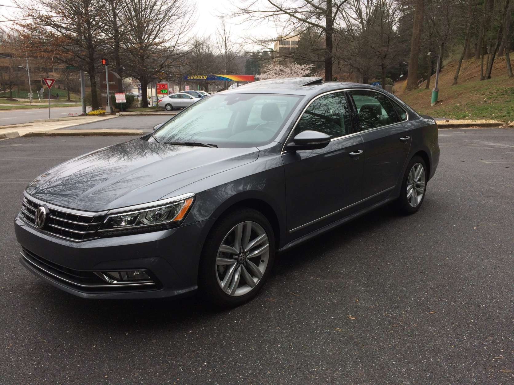 The Passat SEL Premium has adaptive cruise, lane departure warning, lane assist and even autonomous emergency braking. This Passat will even help you park with the Parking Steering Assistant. (WTOP/Mike Parris)