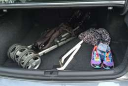 Mike Parris said the Volkswagen Passat has a lot of room in the trunk. (WTOP/Mike Parris)