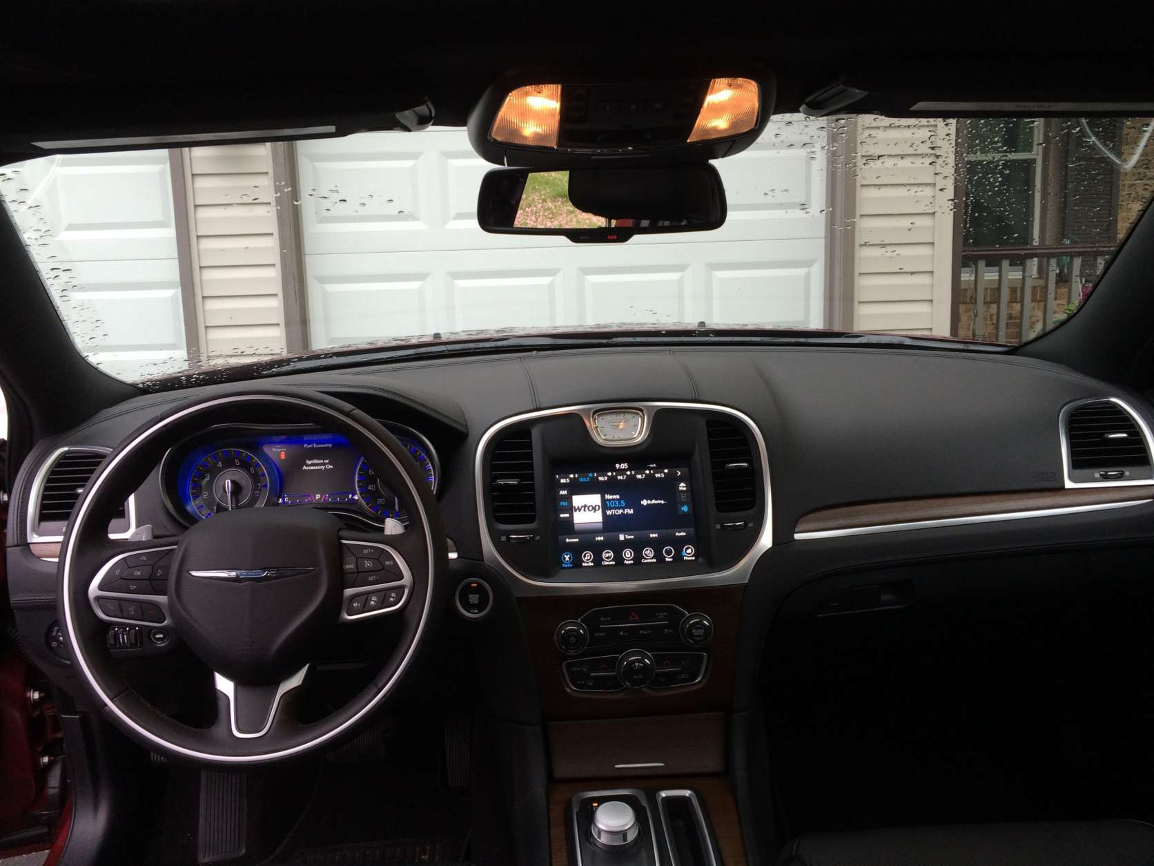 The look and feel is enhanced with the premium leather-wrapped interior accents; more places you touch have leather than plastic. (WTOP/Mike Parris)