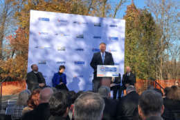 Virginia Gov. Terry McAuliffe addresses the crowd at the groundbreaking. (WTOP/Dick Uliano)