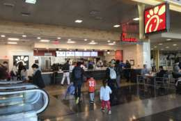 Chick-fil-A is one of the new food offerings at Reagan National Airport. (WTOP/Michelle Basch)