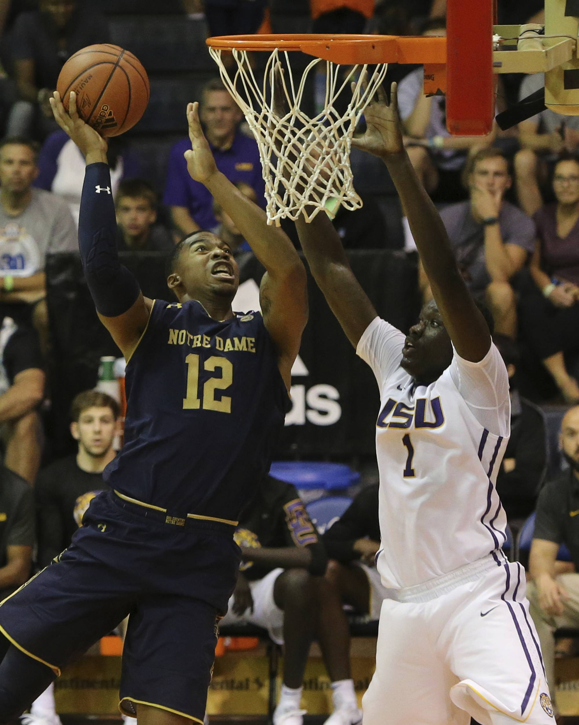 No. 13 Notre Dame drubs LSU 92-53 to reach Maui title game | WTOP