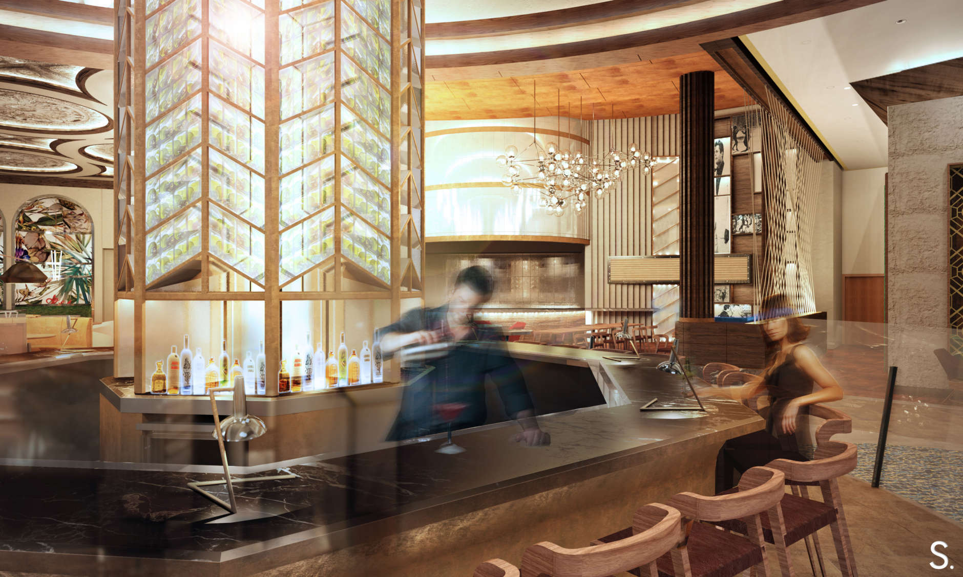 The new Octagon Bar, a prohibition-style mixology bar, will serve old classic-style cocktails. (Rendering courtesy Mike Isabella Concepts/Streetsense)