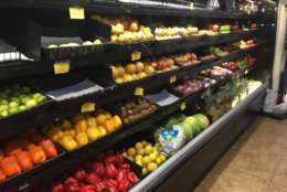 St. John's grocery stores are well-stocked with fresh produce. (WTOP/Jeff Clabaugh)