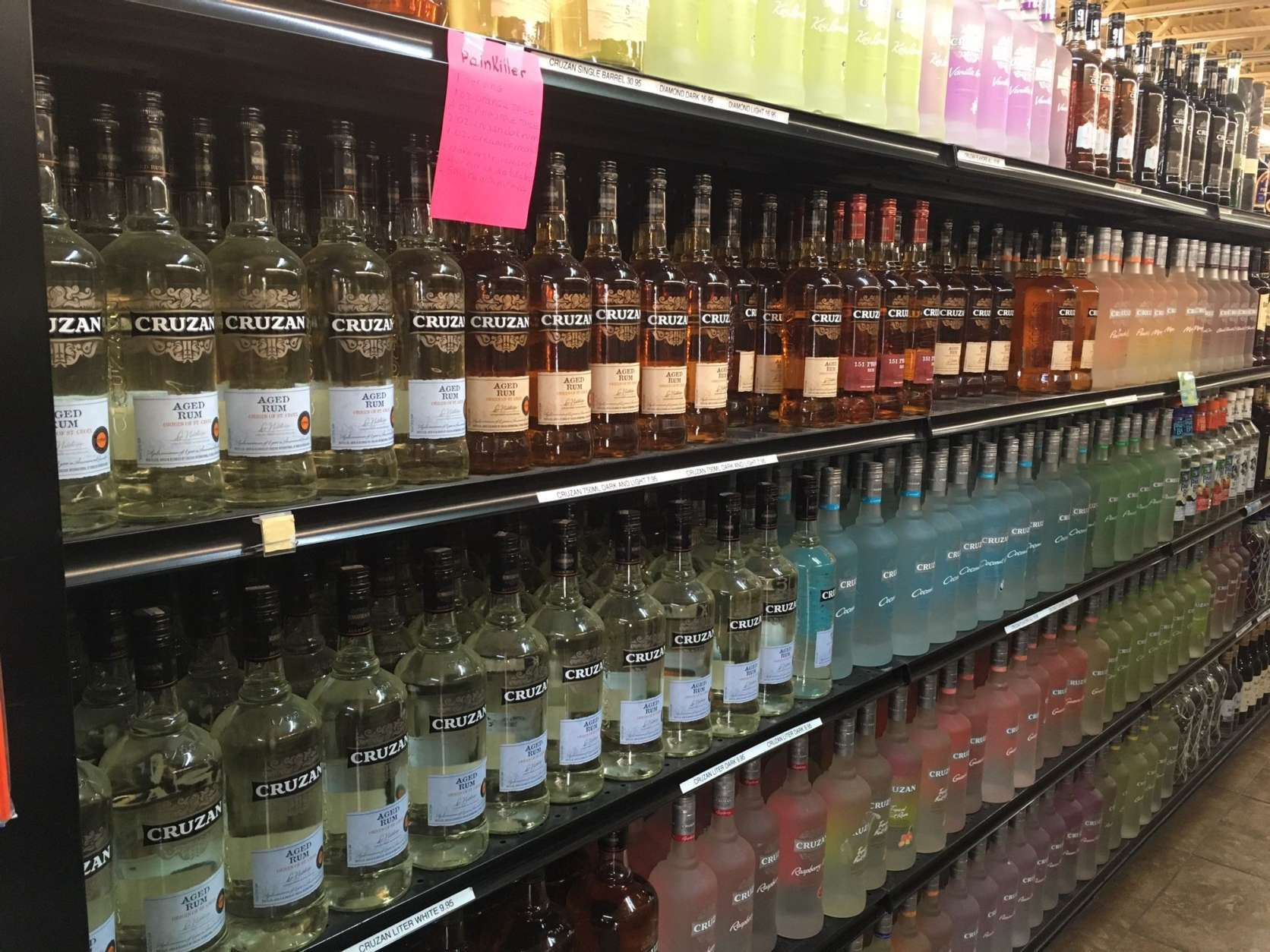 There is no shortage of any tropical islands' requisite rum. (WTOP/Jeff Clabaugh)