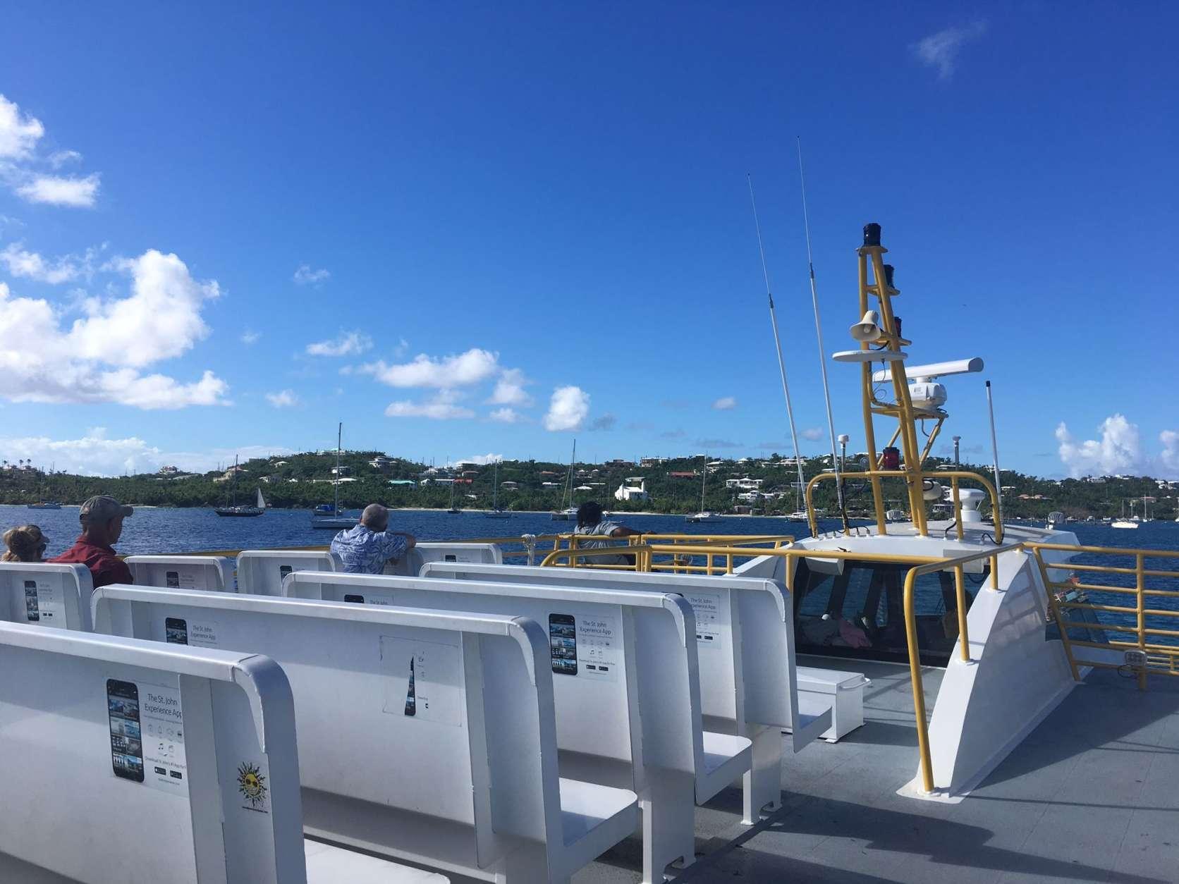 Regular ferry service to Cruz Bay has been fully restored. (WTOP/Jeff Clabaugh)