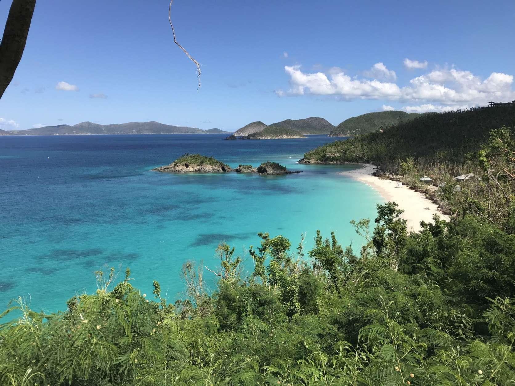 The beach at Trunk Bay, St. John, U.S. Virgin Islands. (WTOP/Jeff Clabaugh)