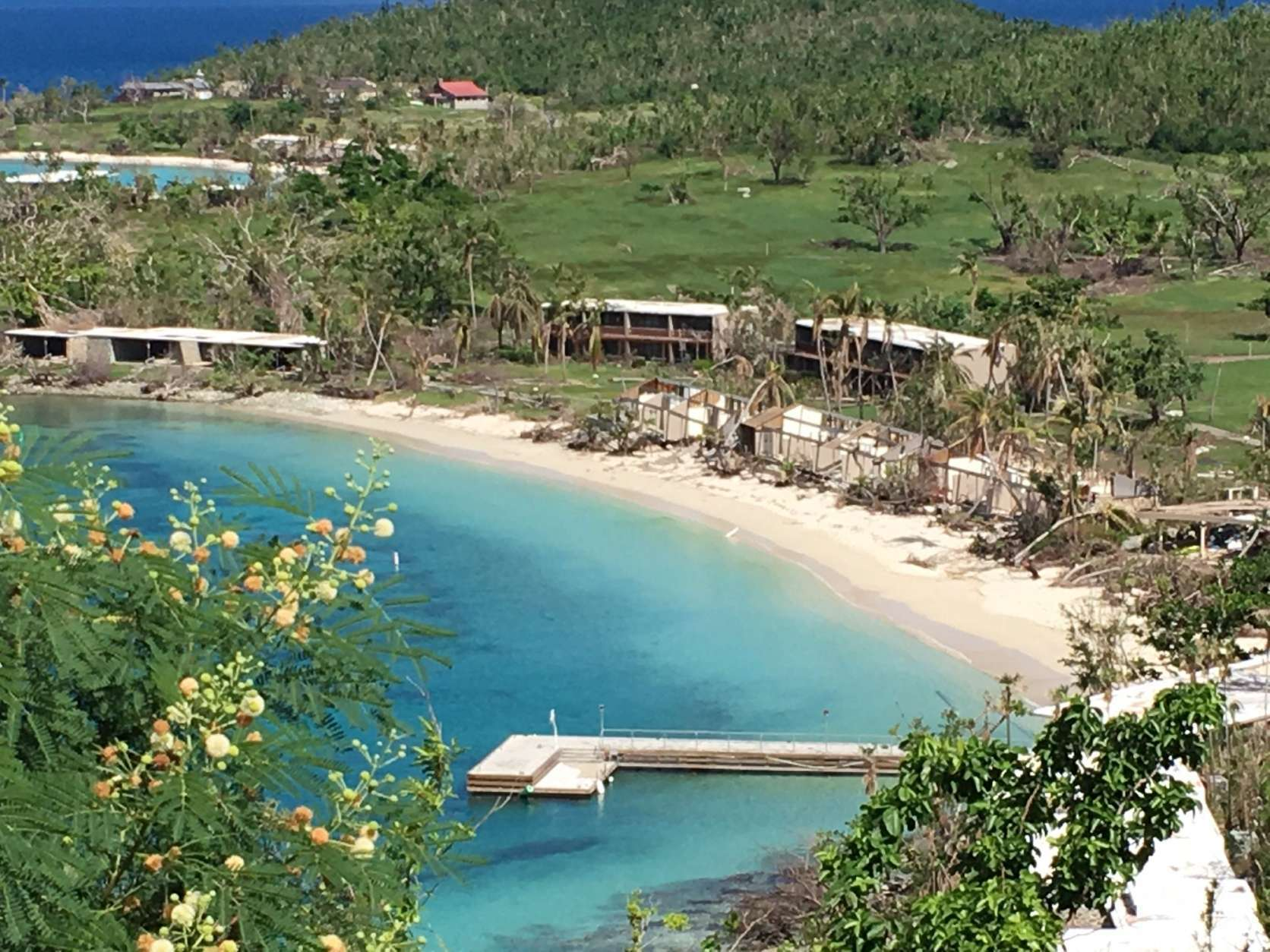 Caneel Bay, St. John's resort to the stars, sustained severe damage. (WTOP/Jeff Clabaugh)