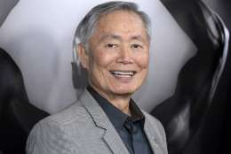 "FILE - In this March 15, 2016 file photo, actor George Takei attends the premiere of ""Mapplethorpe: Look at the Pictures"" in Los Angeles, Calif. Takei has denied he groped a struggling model in 1981.  (Photo by Phil McCarten/Invision/AP, File)"