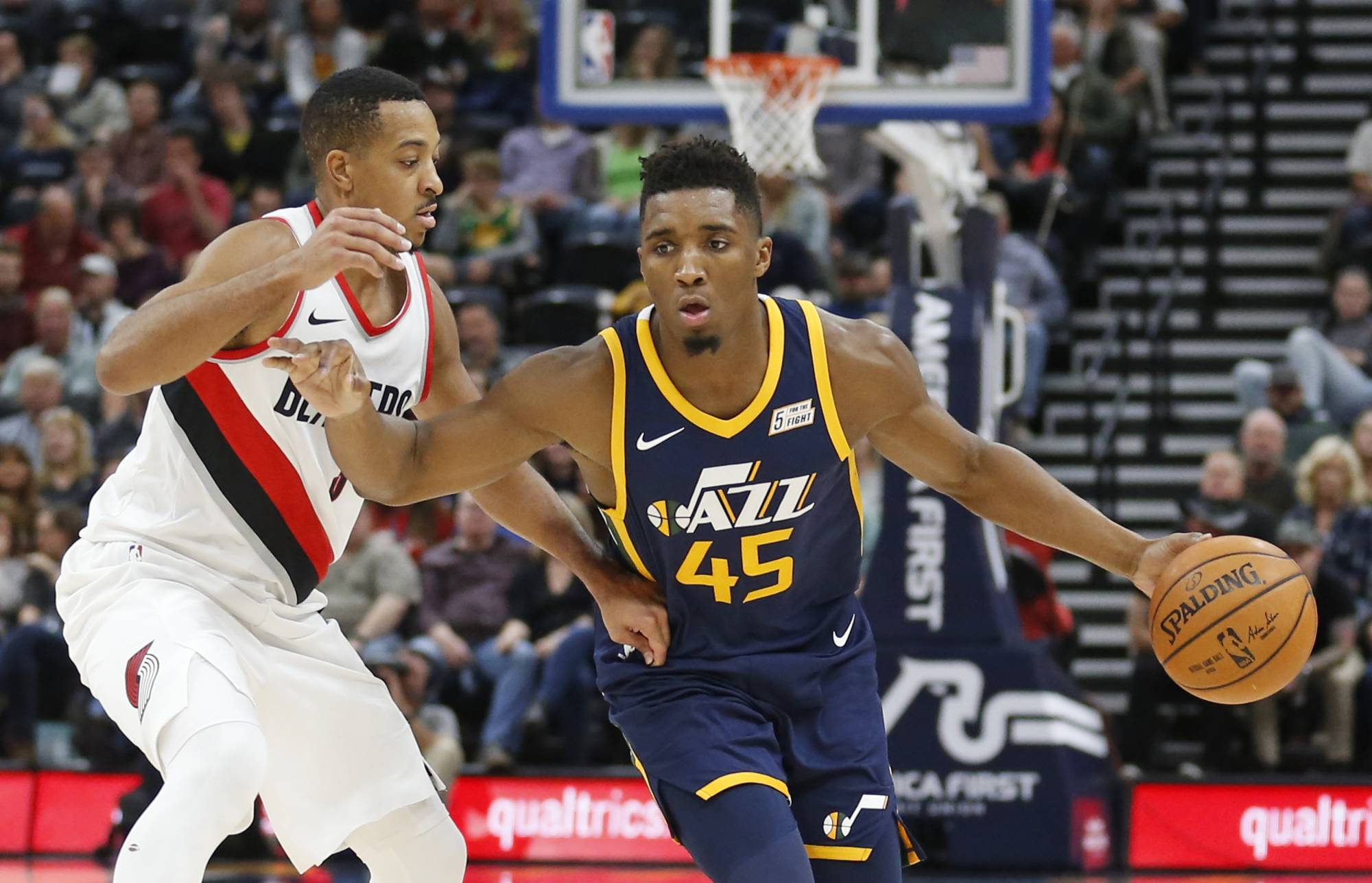 b681a68c42d474 The Utah Jazz coach talked about his faith in rookie Donovan Mitchell