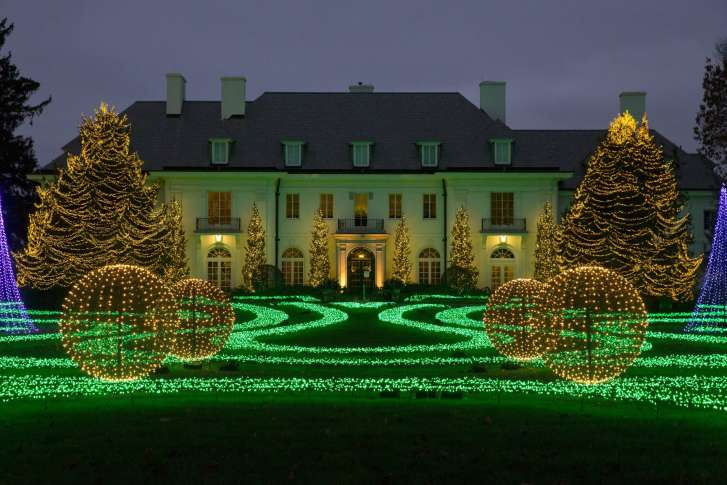 16 2017 photo the lilly house at newfields is part of the winterlights holiday light display on the museums grounds in indianapolis