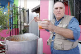D.C. celebrity chef Jose Andres has helped provide more than 3 million hot meals to hurricane Maria survivors in Puerto Rico. (Courtesy YouTube)