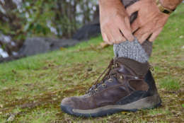 Protecting Against Ticks by Tucking Pants into Socks (Thinkstock)