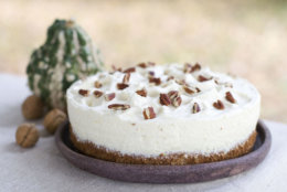 n this image taken on Oct. 15, 2012, lemon pecan mousse cake is shown in Concord, N.H. (AP Photo/Matthew Mead)