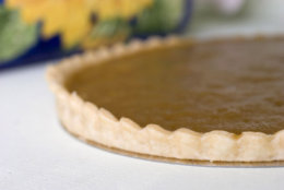 **FOR USE WITH AP LIFESTYLES**    A Maple Tart is seen in this Sunday, April 20, 2008 photo.  This simple recipe is adapted from Au Pied de Cochon chef Martin Picard's version.   (AP Photo/Larry Crowe)