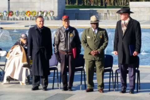 WWII vets honored at their memorial
