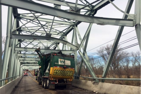 Garbage truck strikes, closes Frederick Co. bridge on Md. 355