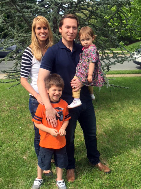 Carlos Wolff with his wife and children. (Courtesy the Wolff family)