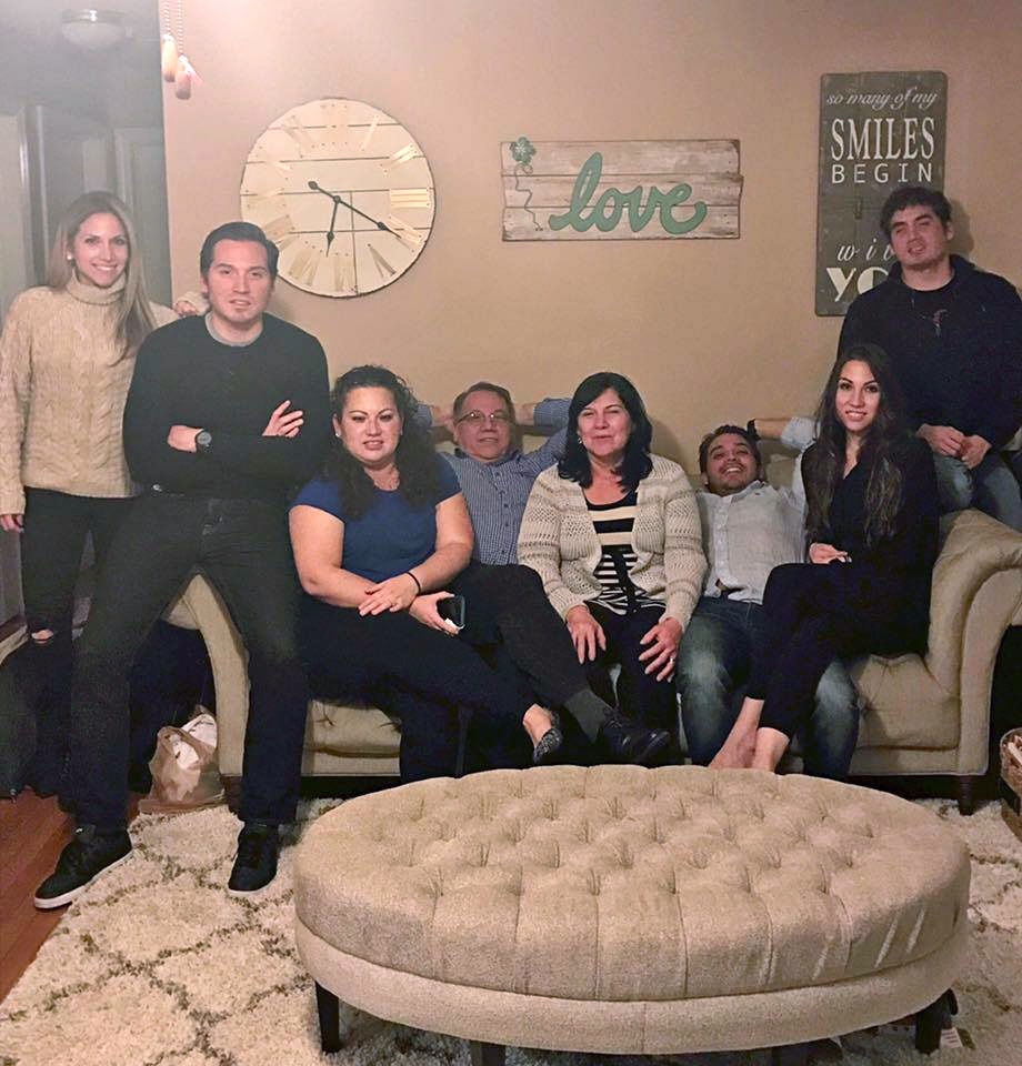 Carlos Wolff with his parents and five siblings. (Courtesy the Wolff family)