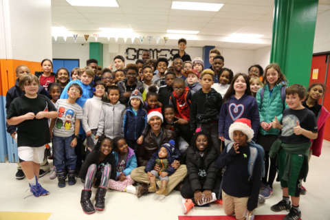Obama in a Santa hat makes surprise visit to DC Boys & Girls Club