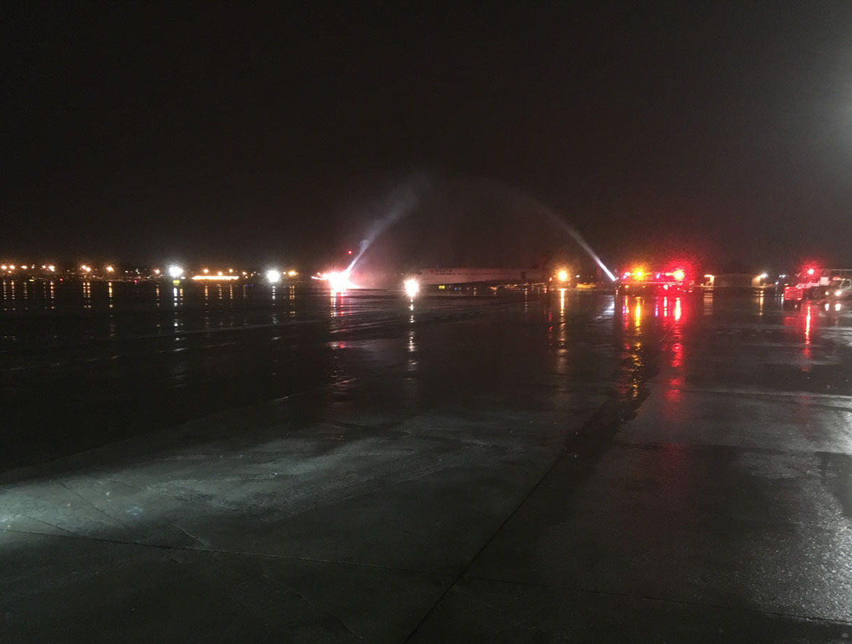 The remains of Howard Bean arrive at BWI Marshall Airport the night of Tuesday, Dec. 5,  2017. (Courtesy Tim Sova Sr.)
