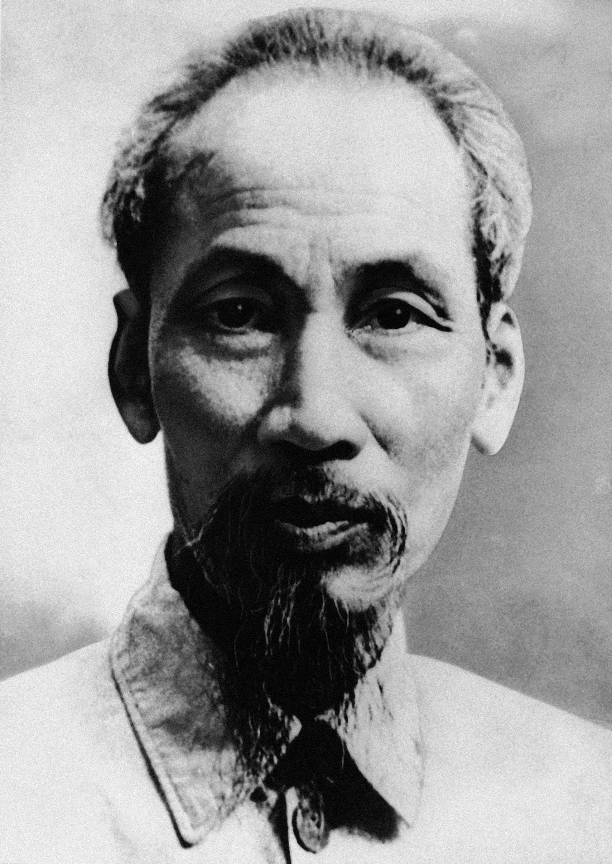 Prime Minister Ho Chi-Minh, the 64-year-old Moscow-trained leader of the Vietminh rebels in Indochina shown in 1954.  (AP Photo)