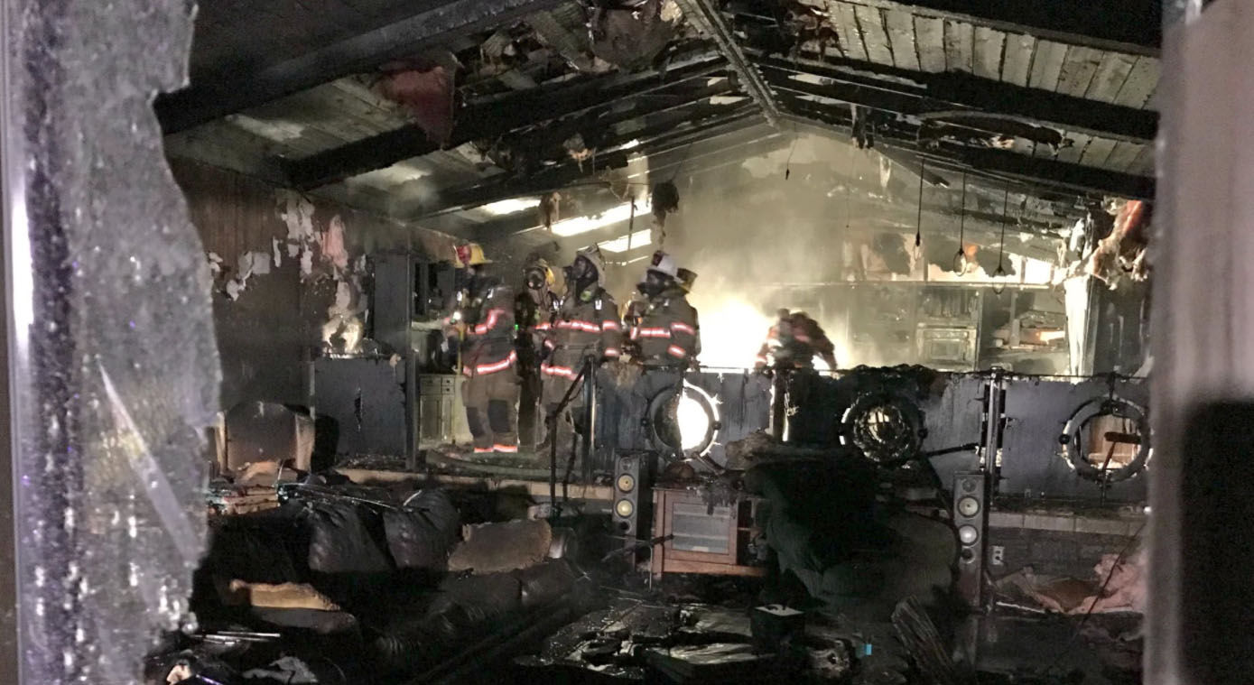 No one was in the house on Brink Road in Montgomery County when a fire broke out Thursday, Dec. 21, 2017. (Courtesy Montgomery County Fire & Rescue)