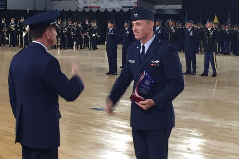 DC National Guard honors pilot who saved Md. neighborhood from plane crash