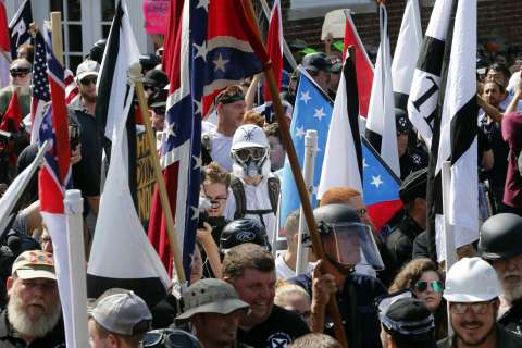 Hate crime argued for 3 Charlottesville white nationalist rally rioters