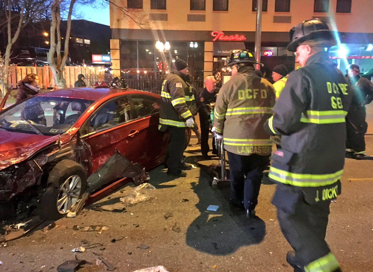 The incident occurred at Connecticut Avenue and Yuma Street around 5:30 p.m., just a few blocks north of the UDC metro station. (Courtesy D.C. Fire and EMS)