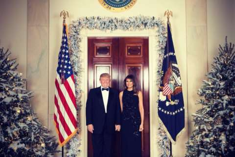 President, first lady's official White House Christmas portrait released