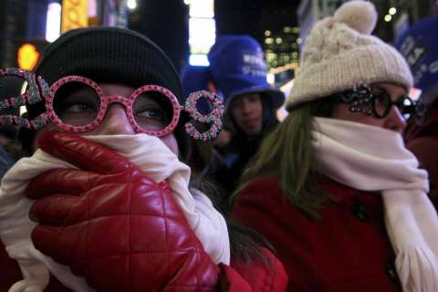 Extreme cold to test New Year's revelers; some events iced