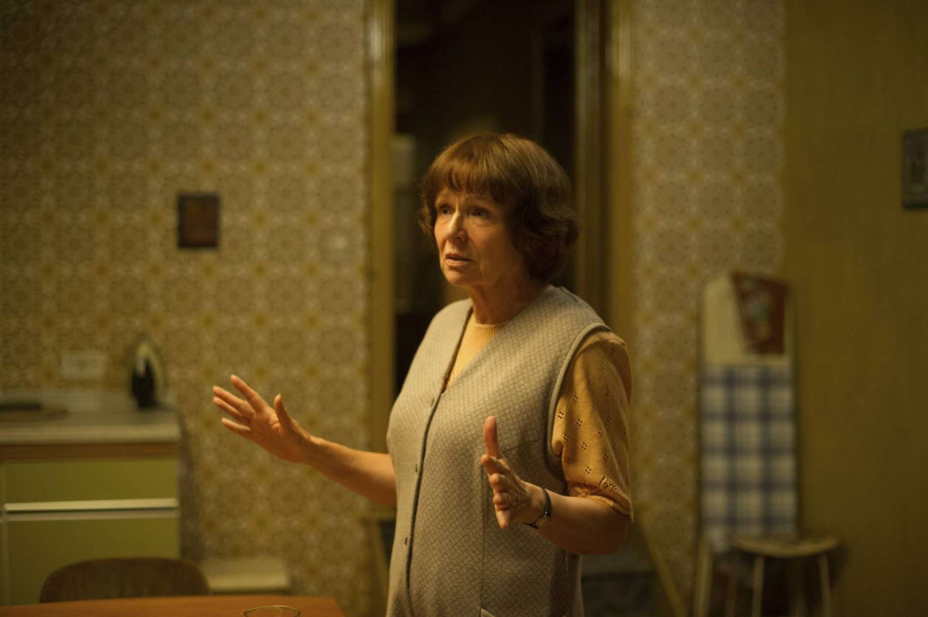"This image released by Sony Pictures Classics shows Julie Walters in a scene from ""Film Stars Don't Die in Liverpool."" (Sony Pictures Classics via AP)"