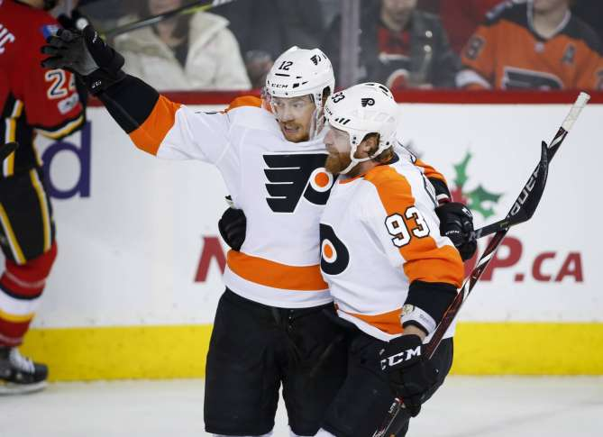 Flyers top Flames to snap 10-game skid